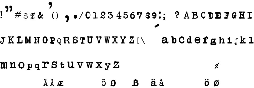 Another Typewriter free Font in ttf format for free download 24 52KB