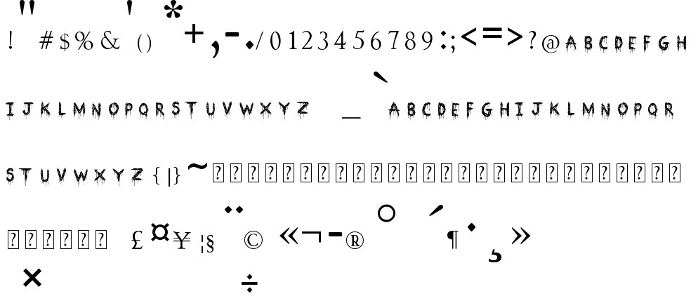Bloodthirsty Free Font In Ttf Format For Free Download 239 78kb