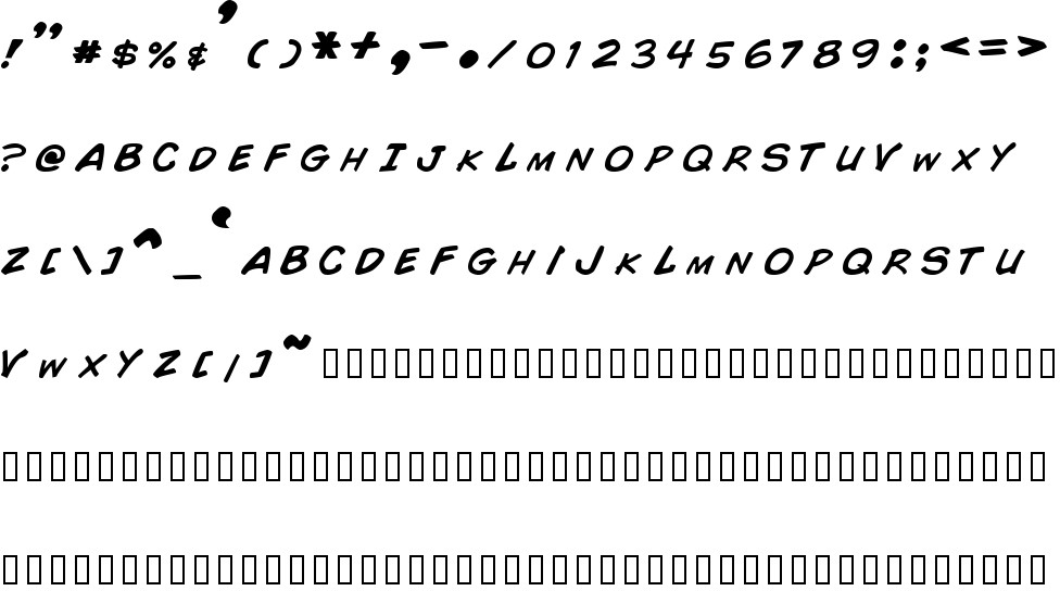 Comic Book Free Font In Ttf Format Size 1384KB