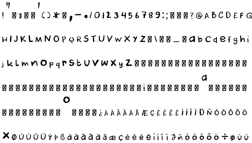 Dk Cool Crayon Free Font In Ttf Format For Free Download 164mb