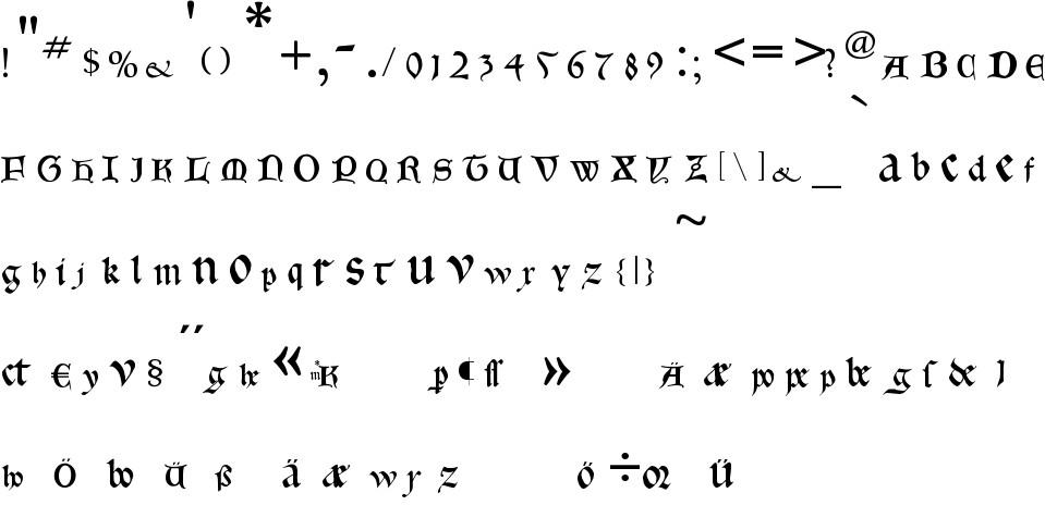 Gotica Bastard free Font in ttf format for free download 27 36KB