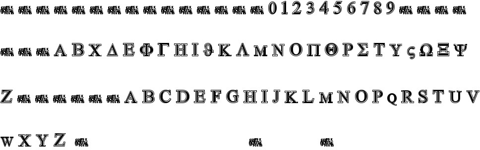 Greek House Symbolized free Font in ttf format for free download 44 93KB