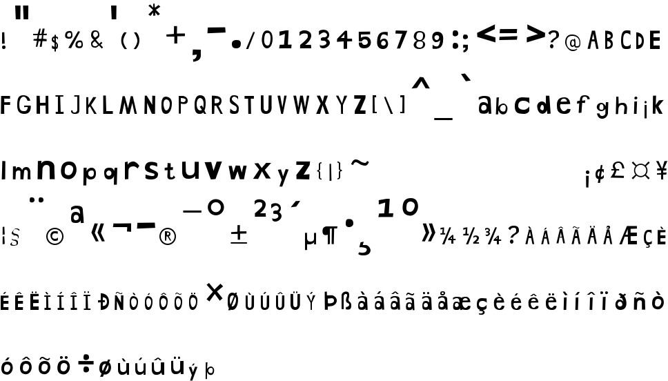 Hand Drawn Shapes free Font in ttf format for free download 51 23KB