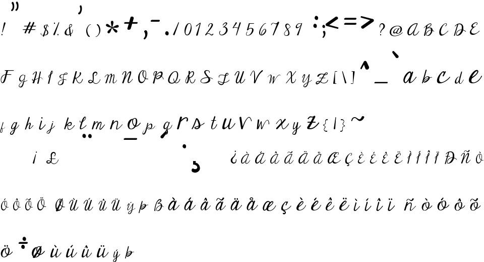 Janda Elegant Handwriting Free Font In Ttf Format For Free Download 28 03kb