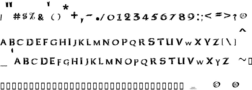 100 Free Download This Font Kelt Caps Freehand Charset