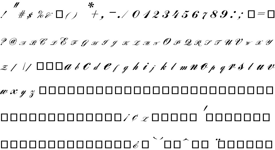 Louisa CP free Font in ttf format for free download 14 70KB