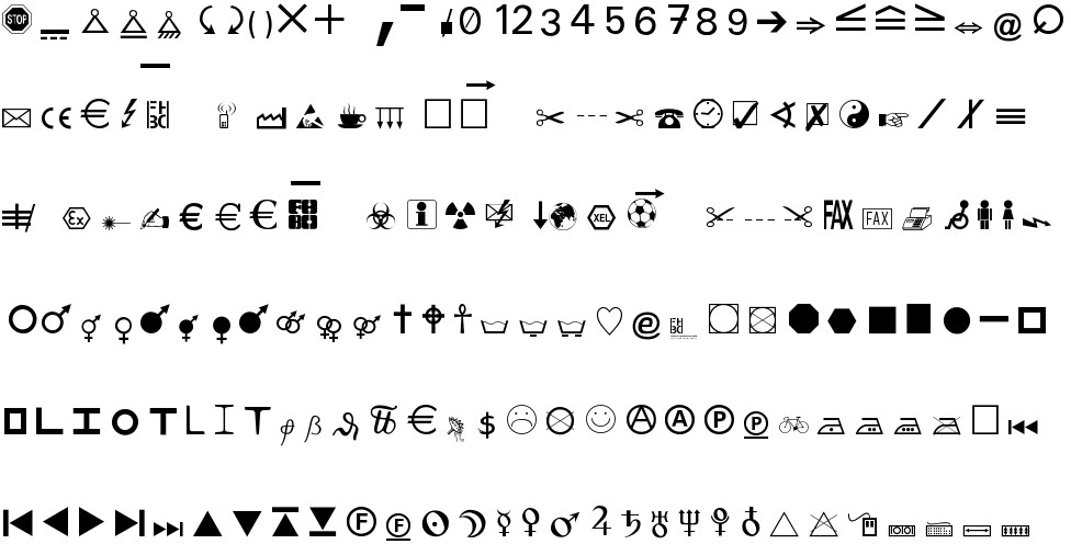 Martin Vogels Symbols Free Font In Ttf Format For Free Download 8156kb