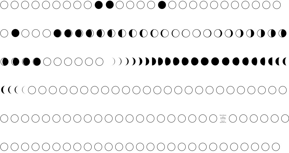 Moon phases vector | premium download.