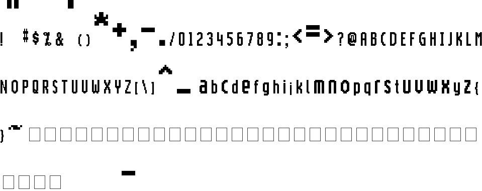 Motorola Screentype Free Font In Ttf Format For Free Download 7 71kb