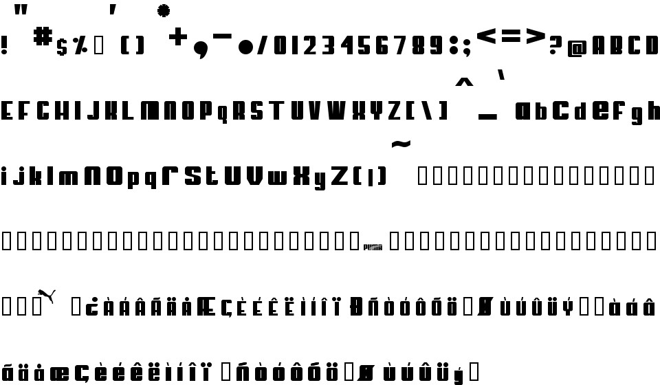 my puma free font in ttf format for free download 13 24kb my puma free font in ttf format for