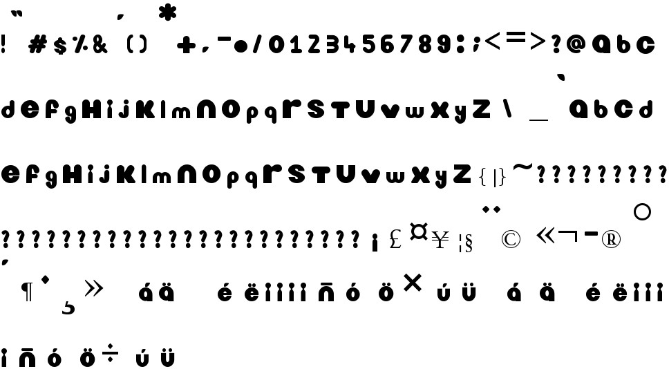Nickelodeon free Font in ttf format for free download 12 85KB