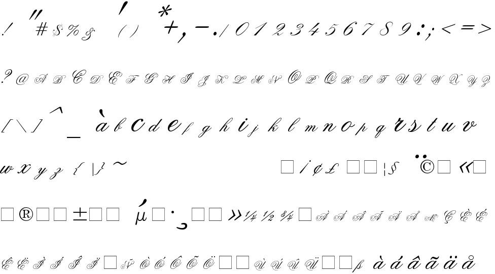 Old Script free Font in ttf format for free download 26 36KB