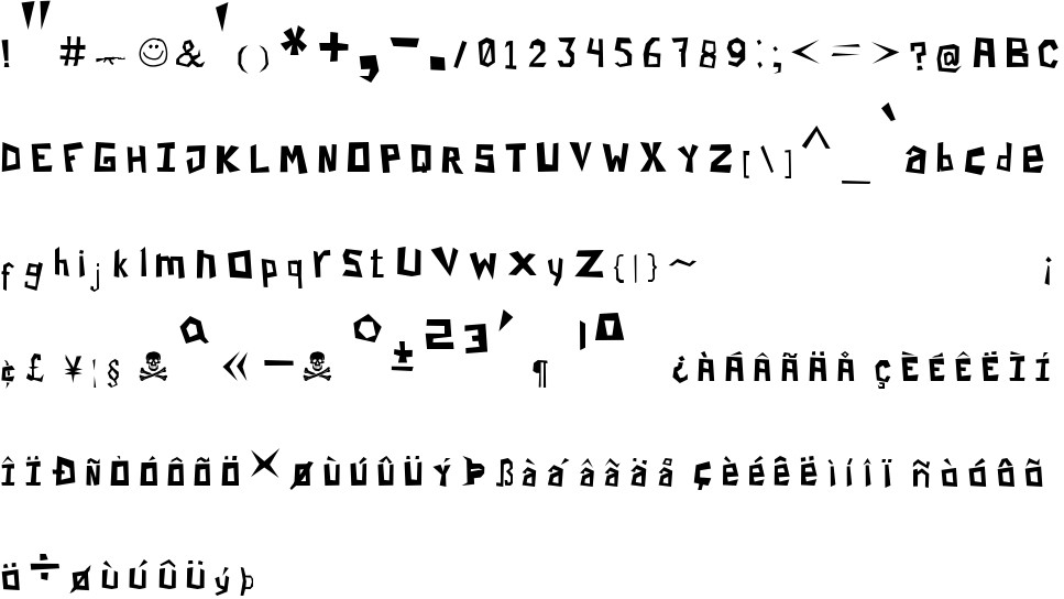 Paper Cuts free Font in ttf format for free download 21 93KB