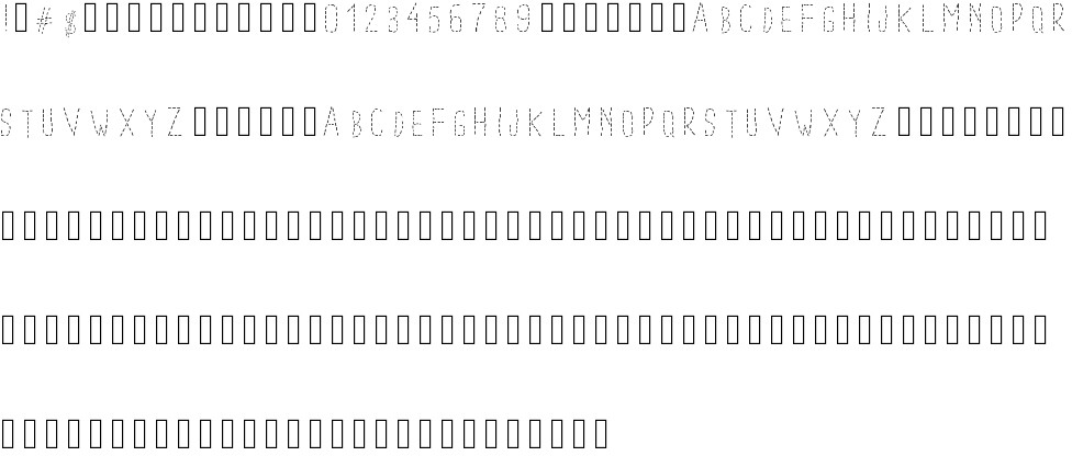dotted font free download
