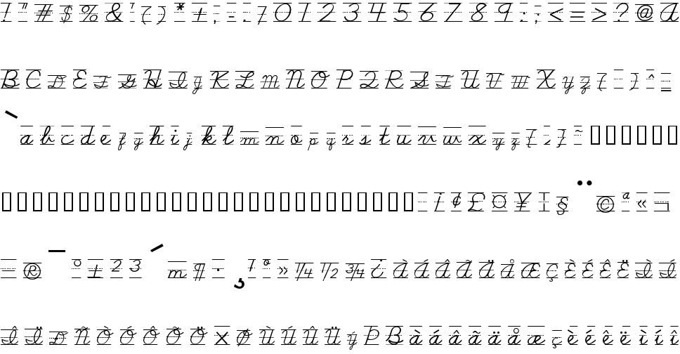 School Script Dashed Free Font In Ttf Format Size 4593KB