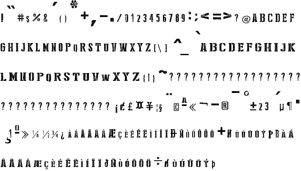 Stencil Style New free Font in ttf format for free download 327 26KB