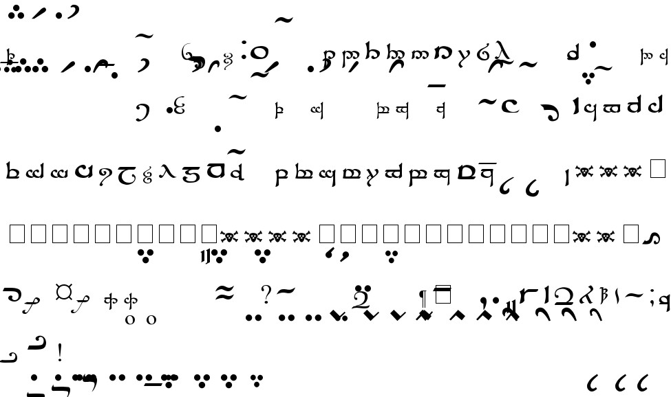 Tengwar Sindarin Free Font In Ttf Format For Free Download 581 31kb