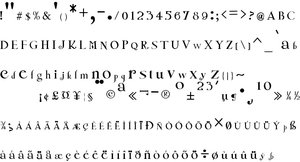 Twilight New Moon free Font in ttf format for free download