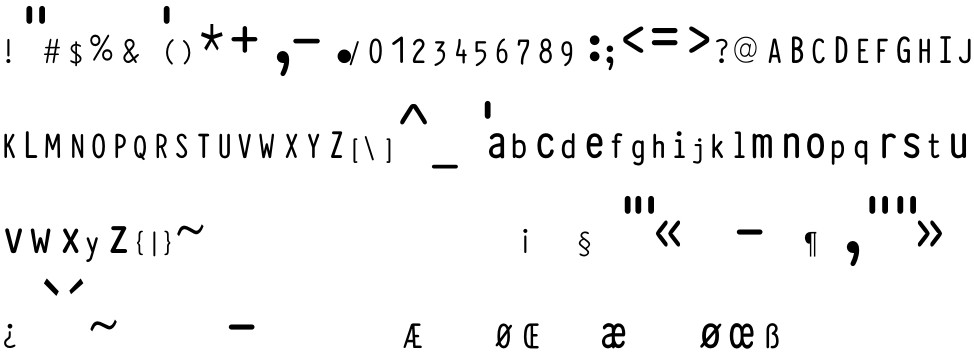 Typewriter Condensed free Font in ttf format for free download 46 44KB
