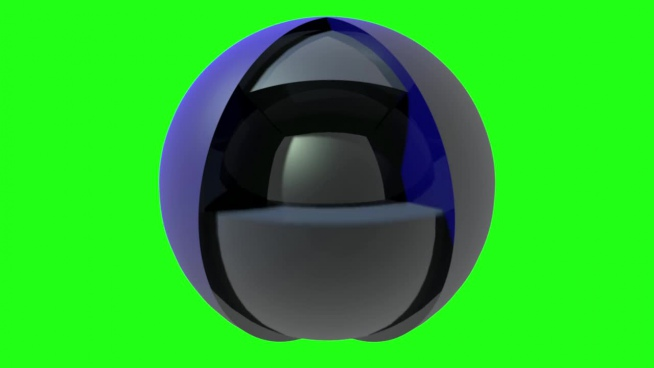 3d illustration of sphere globe