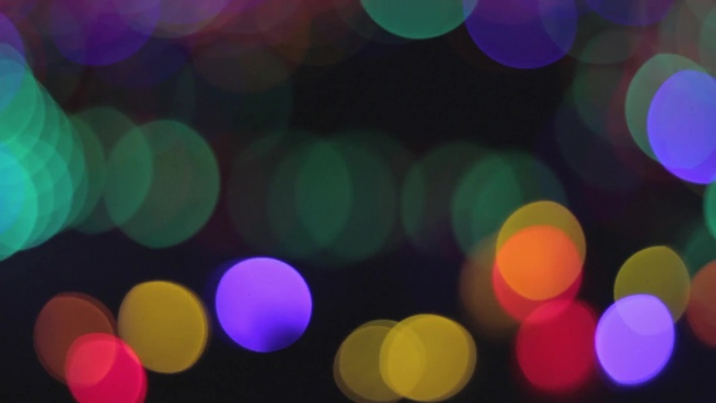 bokeh clip of colorful lights at night