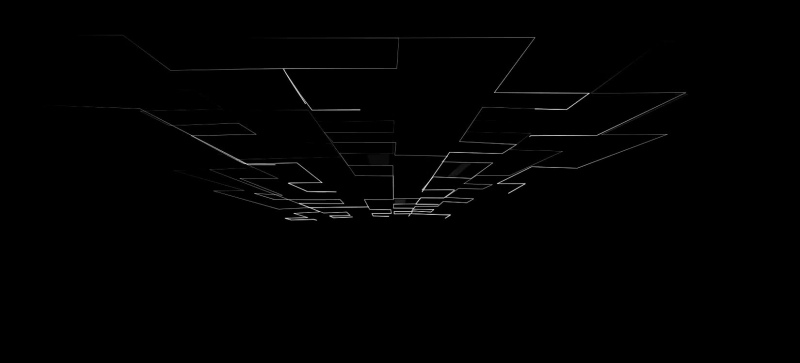 screensaver effect with flat lines in darkness