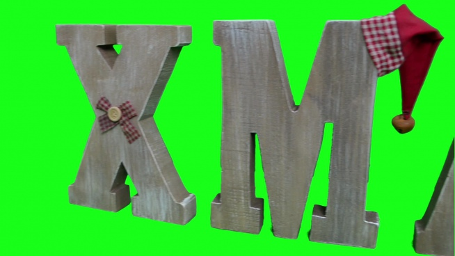 christmas decoration with 3d wooden texts