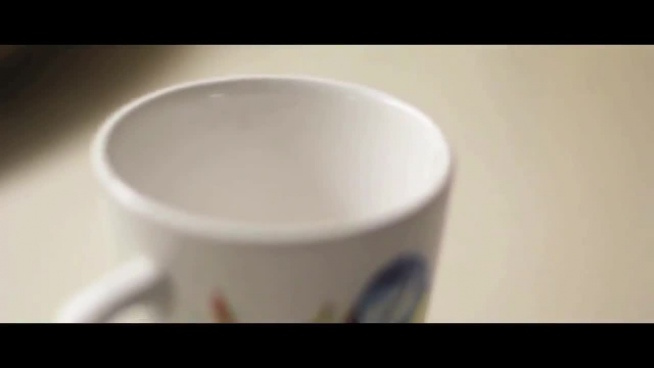 advertisement video of decorative porcelain cup