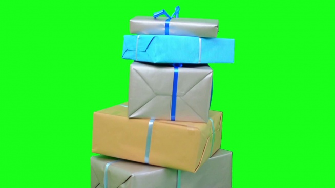 falling motion of paper present boxes