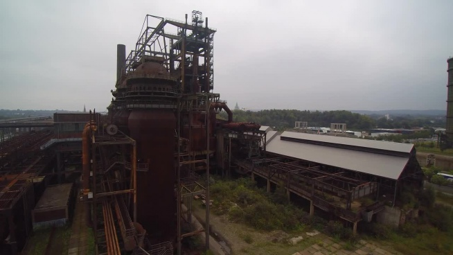 overview of old abandoned plant