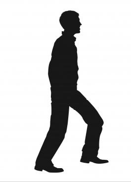 walking movement of man silhouette