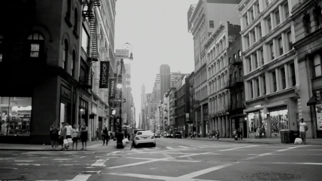 black white clip of life on modern city
