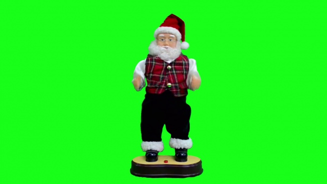 santa claus doll with funny dance
