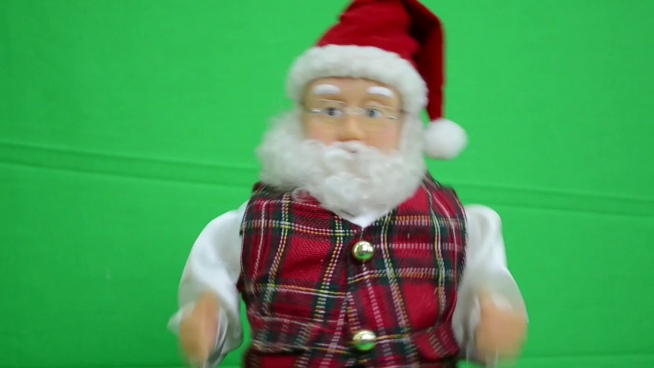 cute santa claus doll moving with music