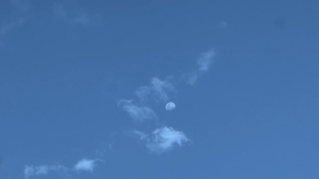balloon floating on blue sky