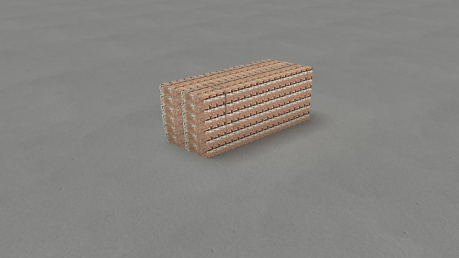 domino effect on cubic walls model