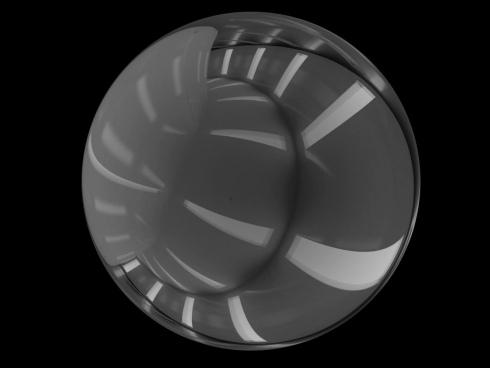 black white 3d sketch of sphere motion