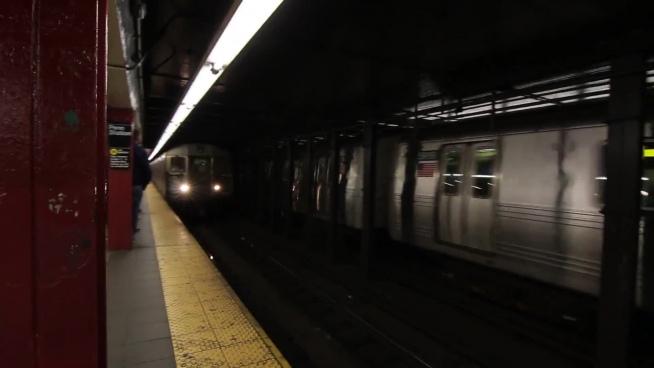 speedy modern metro at station