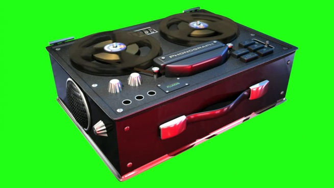 3d illustration of vintage tape audio player