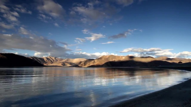 peaceful landscape of tibet country