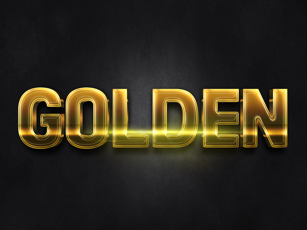 023d gold text effect 1 preview