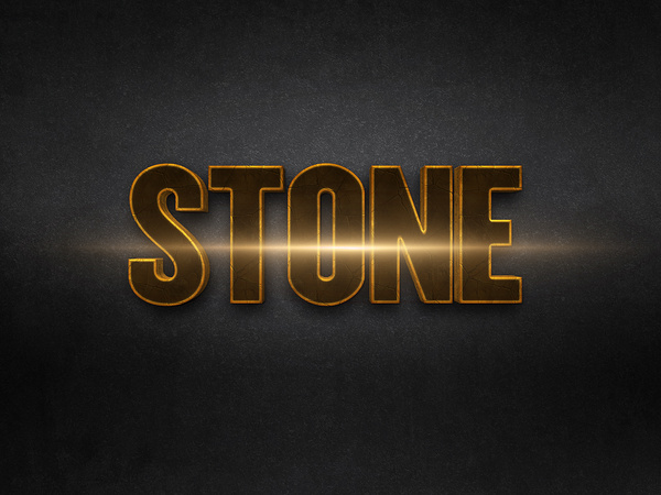 023d gold text effect 2 preview
