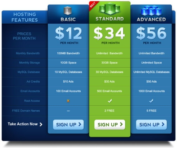 02psd layered price list template