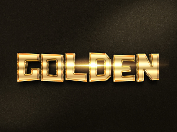 033d gold text effect 1 preview