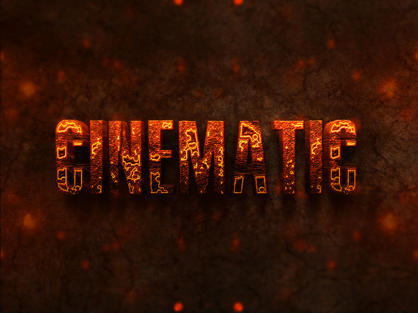 03 3d burning text effects preview