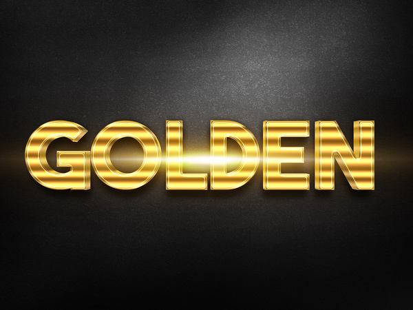 073d gold text effect 1 preview