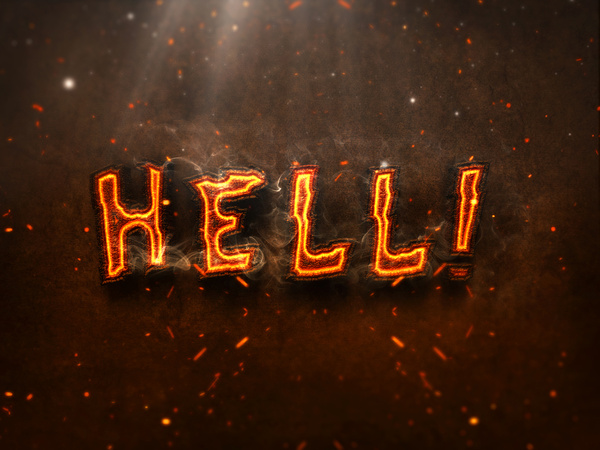 07 3d burning text effects preview