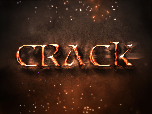 08 3d burning text effects preview