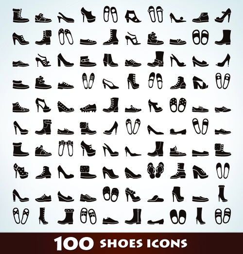 d62c5ce4 100 kind shoes vector icons Free vector in Encapsulated PostScript ...