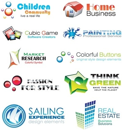 10 Glossy and Colorful Logo Design Elements
